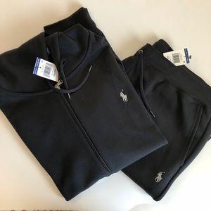 Polo Ralph Lauren Black Hoodie and Sweatpants Set